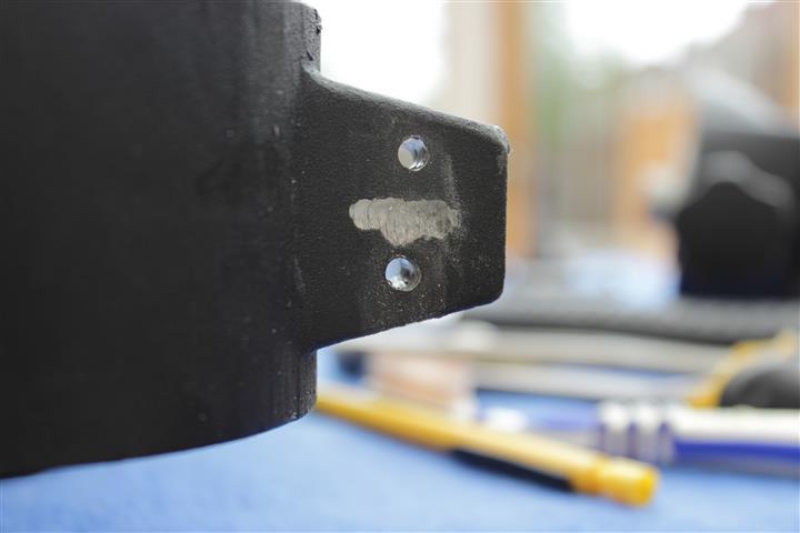 EQ6 Altitude Mod Step 3 - Drill the holes